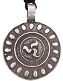 Joaillier Llords   Bouclier celtique, Collier à pendentif avec motif irlandais, bijou en pur étain
