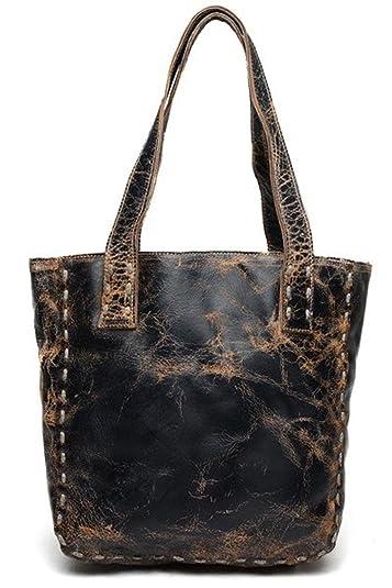 4222626d44e3 Bed Stu Women s Stevie Black Lux Leather Handbag  Handbags  Amazon.com
