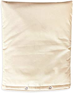 "PHOENIX COVERS USA Pro Outdoor Backflow Preventer Insulation Cover for Winter Pipe Freeze Protection – Multi-use Waterproof Pouch for Water Sprinkler Valve Box, Meter or Controller (24"" x 36"", Beige)"
