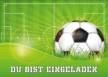 10 Er Set Fussball Einladungskarten Nr 10687 Zum Kindergeburtstag