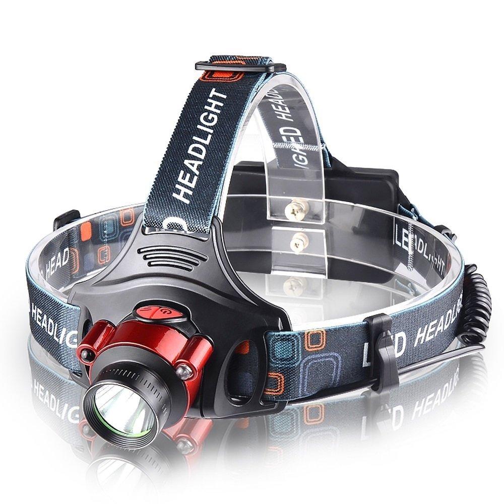 MUTANG Outdoor-LED-Sensor Scheinwerfer Wiederaufladbare super helle Kopf-Taschenlampe Licht Einstellbare Fischlampe Nachtfischen Suchscheinwerfer