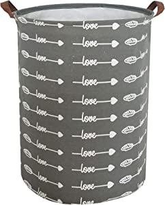 ESSME Large Storage Bin,Canvas Fabric Storage Baskets with Handles,Collaspible Laundry Hamper for Household,Gift Baskets,Toy Organizer (Feather Arrow)