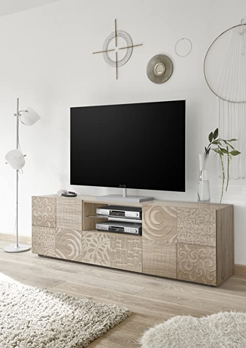Arredocasagmb.it Mobile Porta tv Moderno Bianco Lucido Effetto ...
