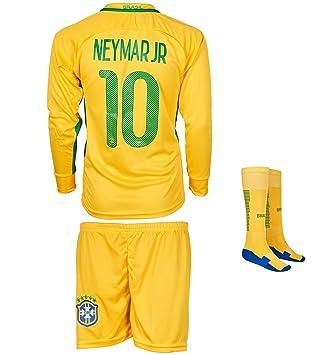 bd7c761b3d Maillot d'équipe du Brésil # 10 Neymar - Avec tricot à manches longues,