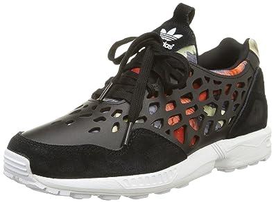 adidas Zx Flux Lace, Sneakers Basses femme, Noir (Core Black/Core Black