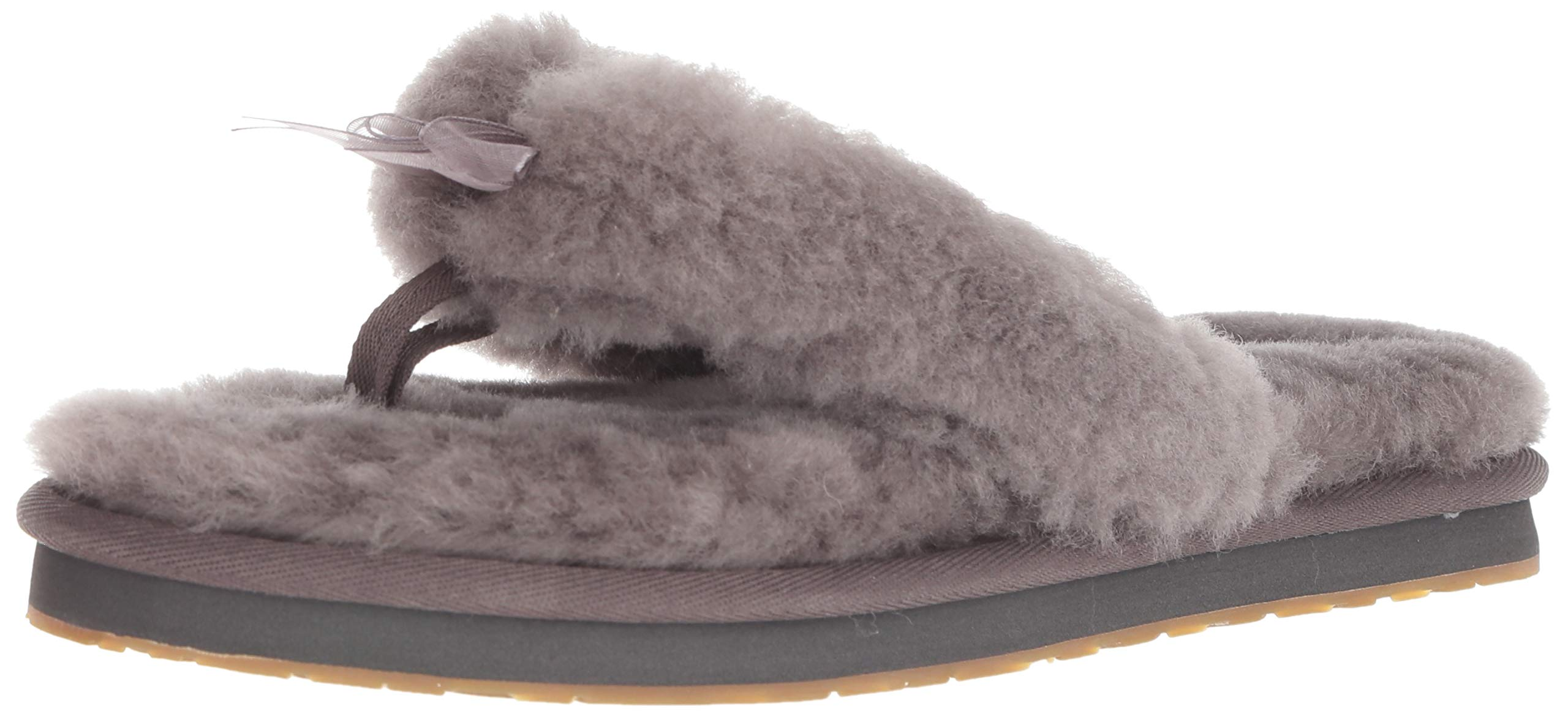 UGG Women's W Fluff FLIP Flop III Slipper, Grey, 8 M US by UGG