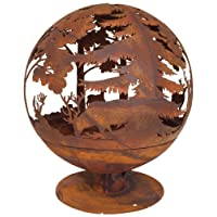 Feuerkorb bronze XXL Corten Fire Basket ✔ rund ✔ rostig (Edelrost)