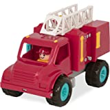 Battat - Fire Engine Truck with Working Movable Parts & 2 Firefighters Figurines - Toy Trucks For Toddlers 18M+