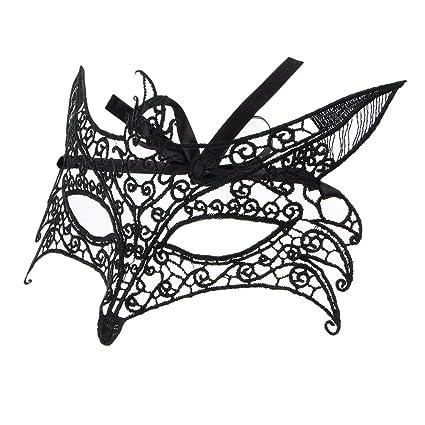 Baoblaze Máscara de Mariposa Ornamento Enigmático Baile de Disfraces Discoteca Fiestas Fantasía Halloween Mujer