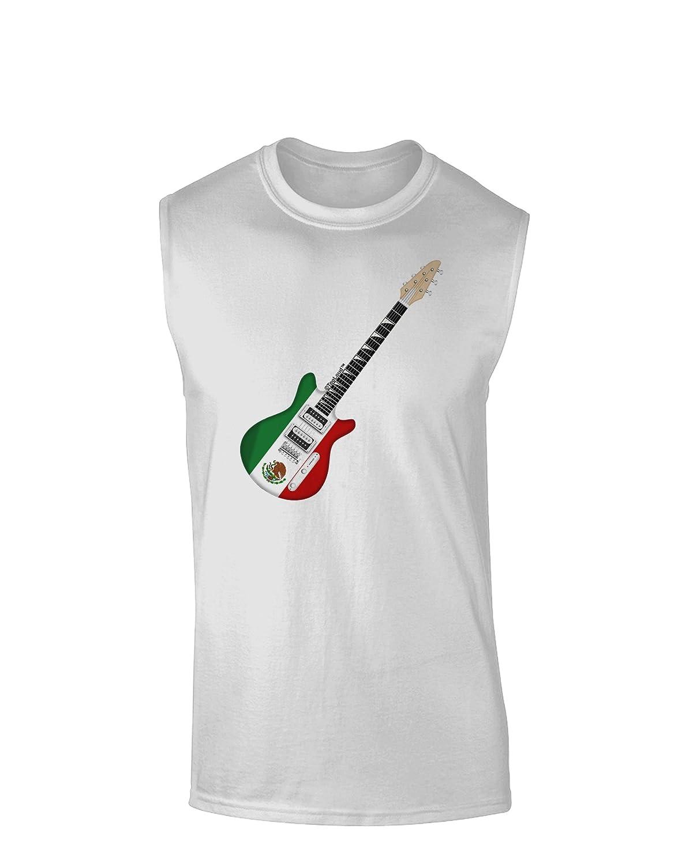 TooLoud Mexican Flag Guitar Design Muscle Shirt