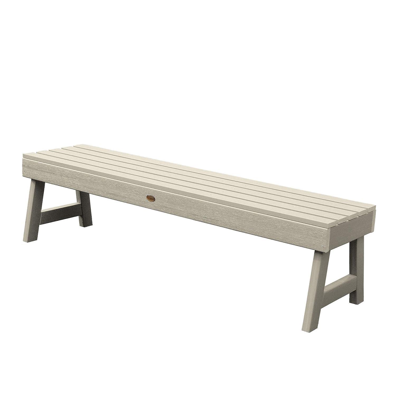 Highwood Weatherly Backless Bench, 5-Feet, Whitewash