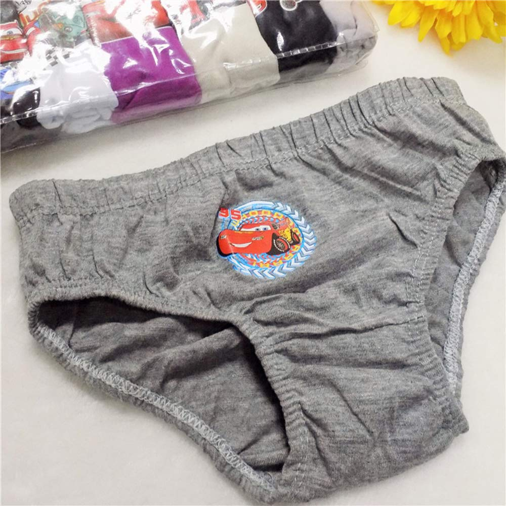 LONMEI 6 Piezas Boys Chicas Ni/ños Adolescente Impresi/ón del Coche Algod/ón Bragas Ropa Interior Pantalones