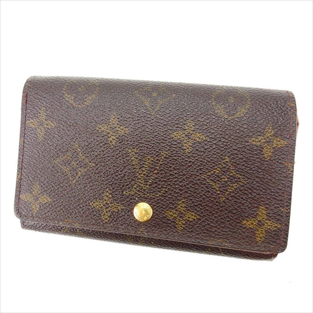 (ルイヴィトン) Louis Vuitton L字ファスナー財布 二つ折り財布 ブラウン ポルトモネビエトレゾール モノグラム レディース 中古 K349   B0748HWCLX