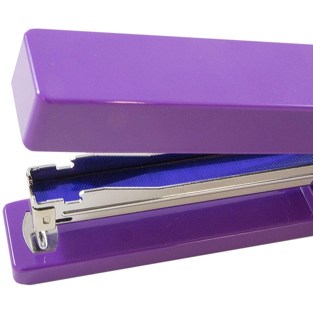 JAM PAPER Office Starter Kit - Purple - Stapler, Tape Dispenser, Staples, Paper Clips & Binder Clips - 5/Pack by JAM Paper (Image #5)