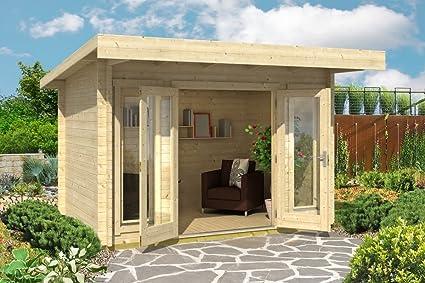 Jardín Casa G167 con soporte suelo – 44 mm listones hogar, superficie: 7,