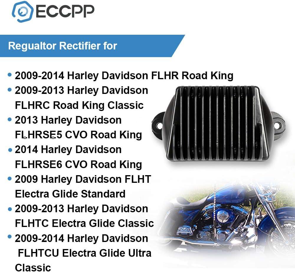 LSAILON Rectifier Voltage Regulator Rectifier Fit for 74505-09 2009-2014 Harley Davidson FLHR Road King 2009-2013 Harley Davidson FLHRC Road King Classic