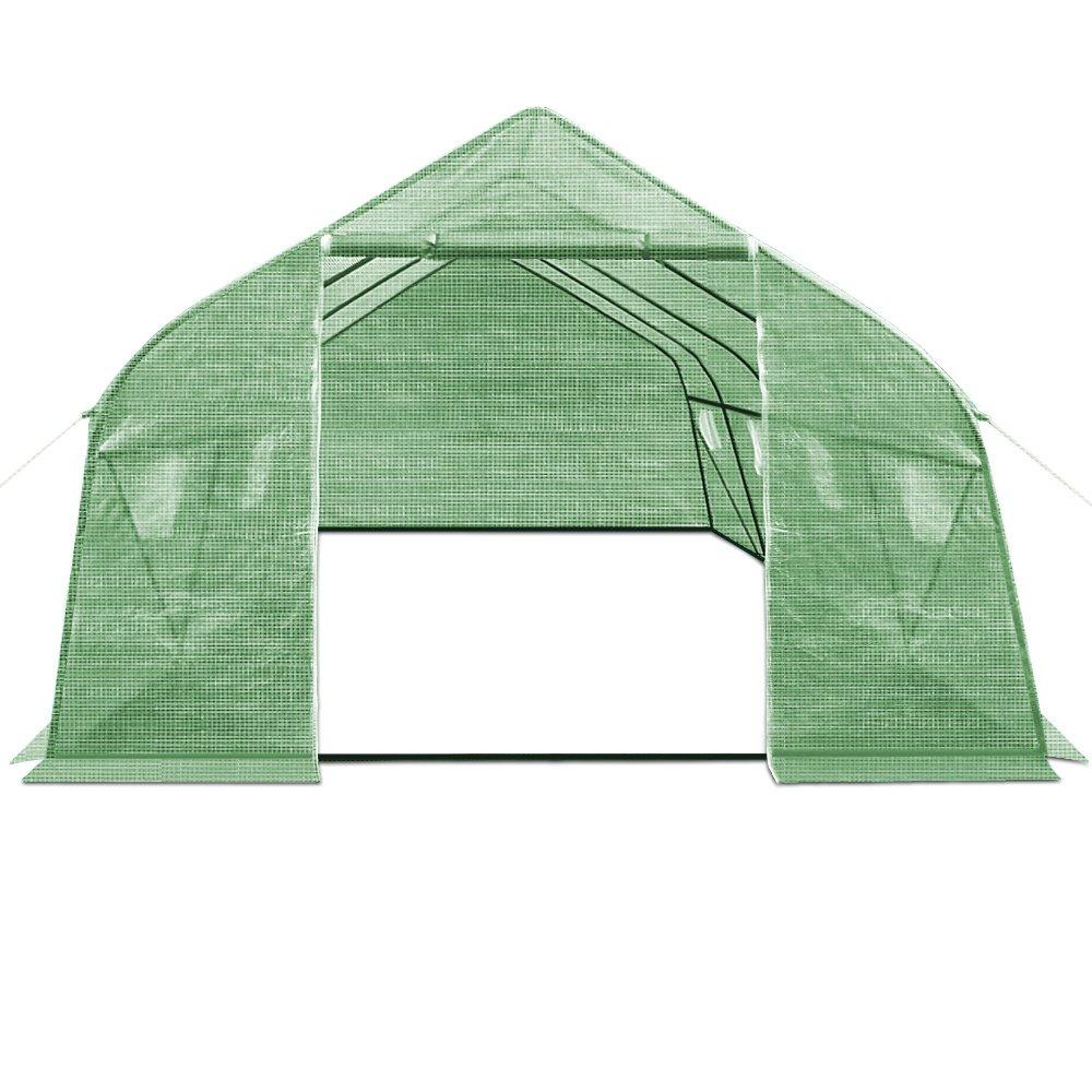 Deuba Large Greenhouse Polytunnel Windows 6x3x2m Poly Tunnel