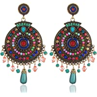 Youbella Bohemian Multicolor Metal Earrings For Women
