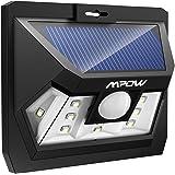Mpow 10 LED Lampe Solaire Extérieure Etanche, Eclairage Extérieur avec Détecteur de Mouvement 120 ° Grand Angle Modes Intelligents Lampe Jardin / Eclairage Extérieur / Luminaire Extérieur pour Pati, Jardin, Cour, Chemin, Escaliers, Clôture, Maison etc