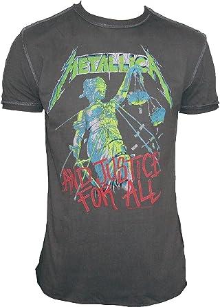Amplified – Camiseta para hombre gris antracita Official Metallica and Justice For All Vintage: Amazon.es: Ropa y accesorios
