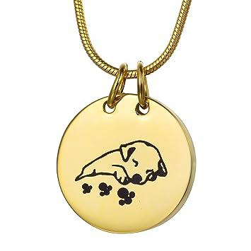 Amazon coco park gold engraving sleeping dog pet cremation coco park gold engraving sleeping dog pet cremation necklace memorial ashes urn pendant jewelry keepsake aloadofball Choice Image