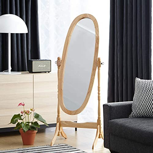 Livinia Ashely Wooden Cheval Floor Free Standing Mirror