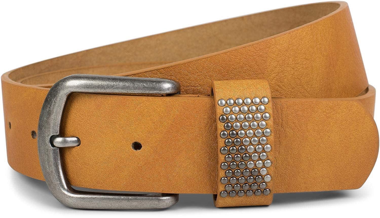 styleBREAKER cintura cintura con borchie in due colori sul passante, cintura borchiata, accorciabile, unisex 03010088