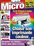 Micro hebdo - n°31 - 19/11/1998 - Choisir son imprimante couleur