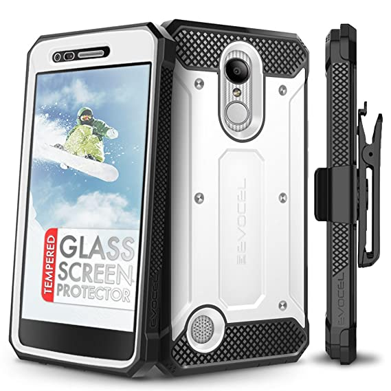 Cases, Covers & Skins Hybrid Shockproof Holster Clip Kickstand Case Cover For Lg Aristo Lv3 V3 Ms210 Clear-Cut Texture