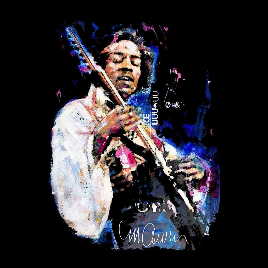 VINTRO Jimi Hendrix Mens Sweatshirt Original Portrait by Sidney Maurer Professionally Printed