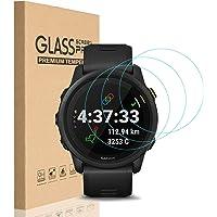 HEYUS [3 Pack] for Garmin Forerunner 745 Screen Protector Glass, 0.3mm Ultra-Thin 9H Hardness Anti-Fingerprint 2.5D…