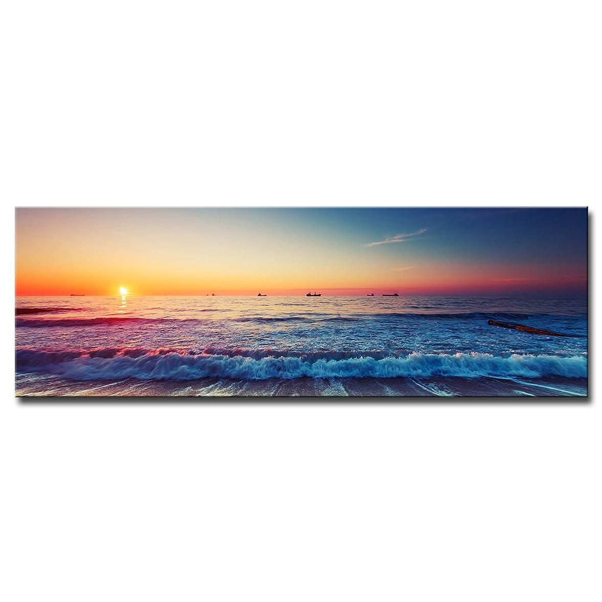 順応性のある肘掛け椅子不良品CrmaOArt アートパネル 「サントリーニ島のイアタウン?エーゲ海」 壁掛け 風景写真の壁の写真を絵画 ポスター キャンバス絵画 5パネルセット(額縁なし)50インチx28インチ