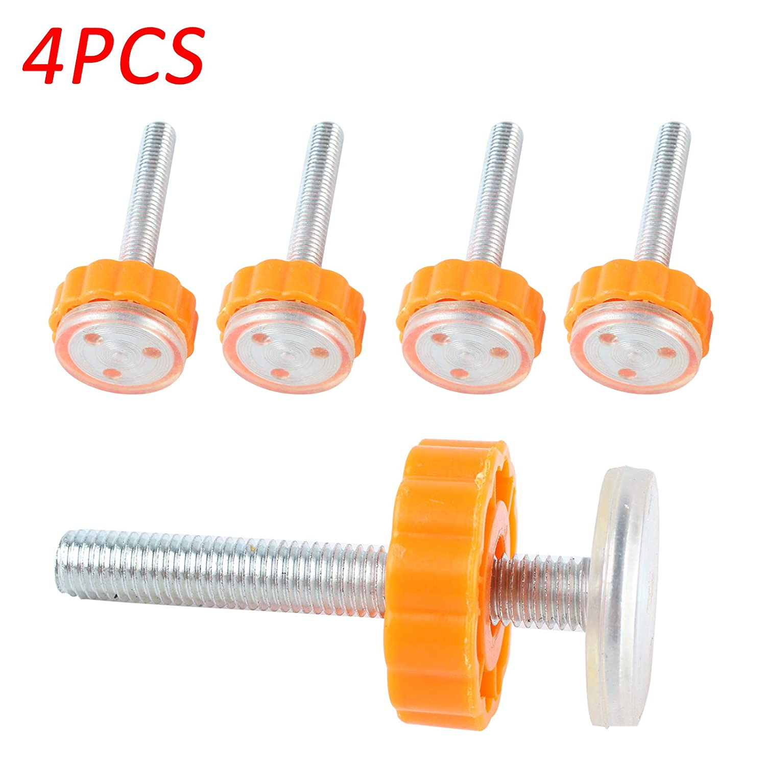 PetHot Pressure Mounted Baby Gates Threaded Spindle Rods Baby Safety Stairs Gate Screws//Bolts with Locking Nut Spare Part Accessories