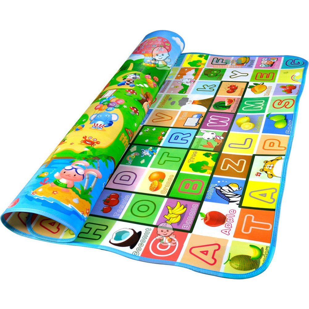 Fashiongallery Health Doulble-Side Play Mats For Kids Baby Toys Mat Children River Animal Green Rug Carpet Children's Toys Floor Mat(112 * 180 * 0.5)