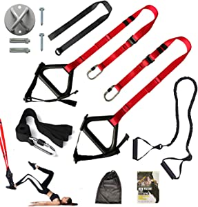 Beneflex Bodyweight Resistance Training Straps, Complete Home Gym Fitness Trainer kit, Workout Straps for Full-Body Workout Home Office Outdoor Travel Use
