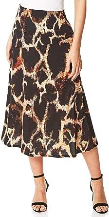 Roman Originals Falda para Mujer con Estampado de Animales, para ...