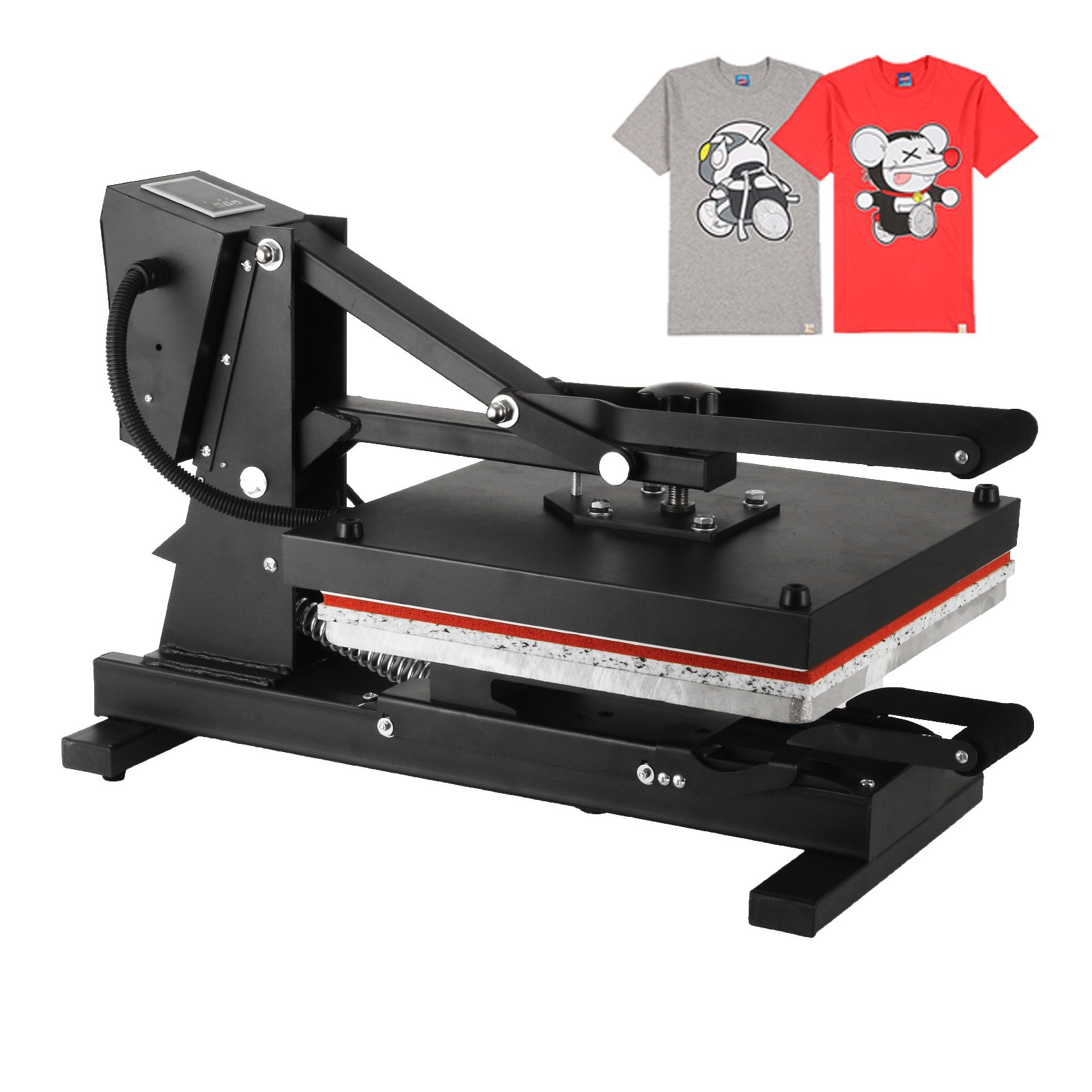 Shareprofit 16x20 Inch Heat Presses High Pressure Heat Press Machines Multifunctional Spring Balancer Heat Press Machine for T Shirts with Slide Out Tray (16x20 Inch European style Slide Rail)