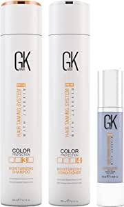 Global Keratin Moisturizing Shampoo & Conditioner 300 ml with Complimentary GKhair Cashmere 50 ml