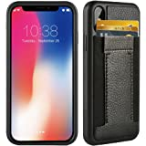 iphone X Wallet Case , iphone X Card Holder Case , ZVE Apple iphone X Case with ID Credit Card Holder -Ultra Slim Shockproof Protective Wallet Case For Apple iPhone X 5.8 inch- Black And Black