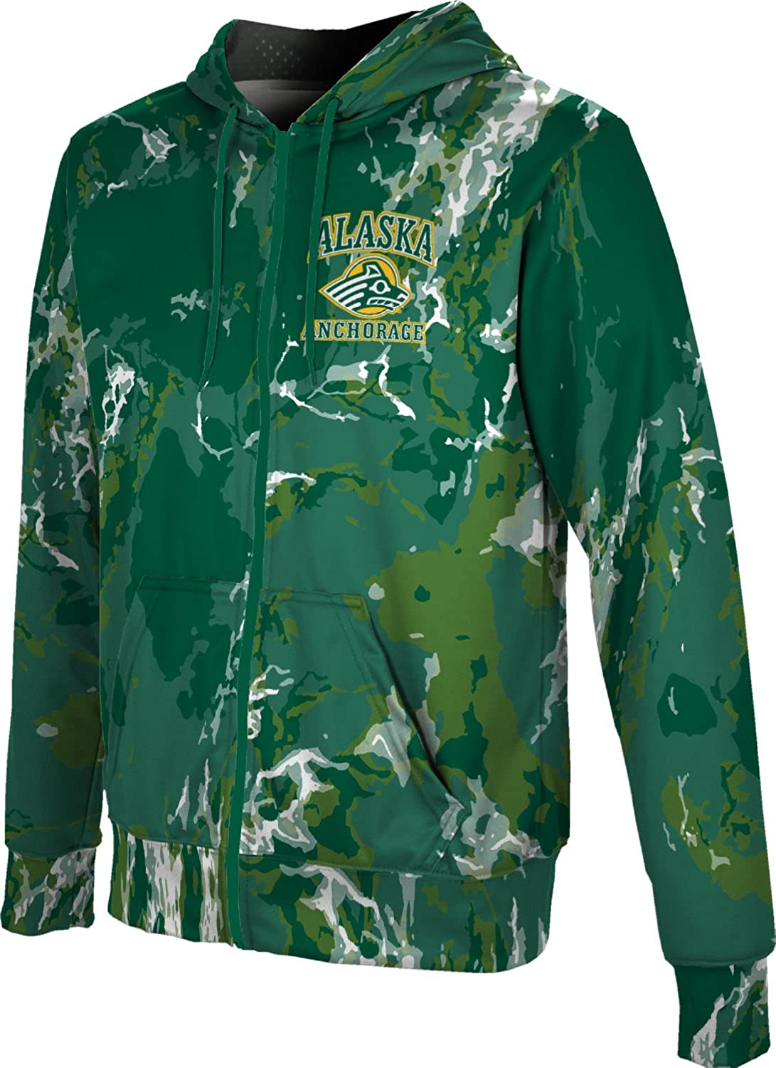 Marble ProSphere University of Alaska Anchorage Boys Fullzip Hoodie