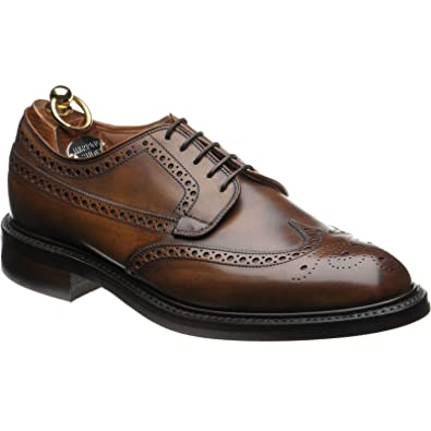 Herring Canning rubber-soled brogue in Mahogany Calf