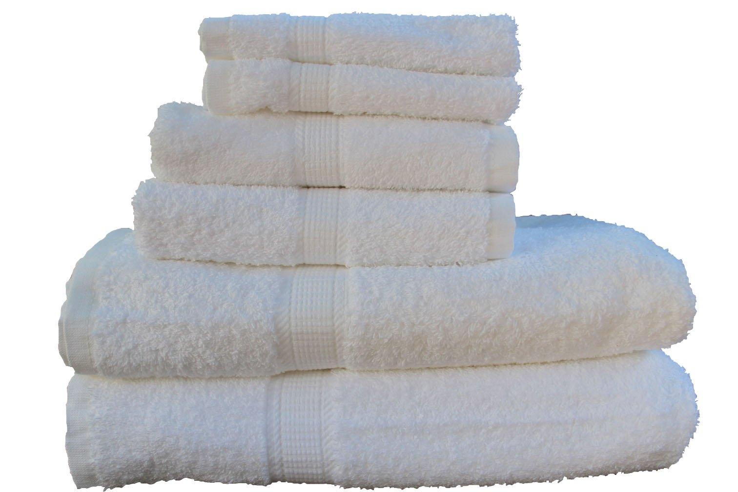 San Vincente Platinum Luxurious Bath Linen Set--white