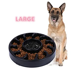 JASGOOD Slow Dog Bowl for Large Dogs
