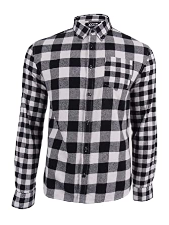 Shaun White Mens Medium Flannel Button Down Shirt Black M At Amazon