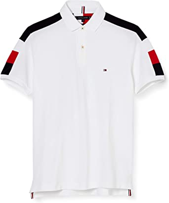 Tommy Hilfiger GS Sleeve Color Block Slim Polo Camisa para Hombre: Amazon.es: Ropa y accesorios