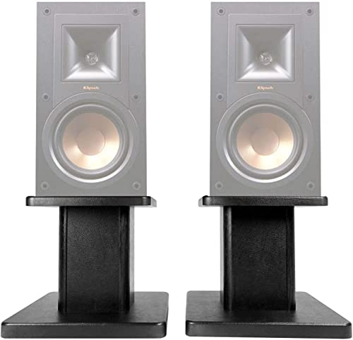 2 8 Black Bookshelf Speaker Stands for Klipsch R-15PM Bookshelf Speakers