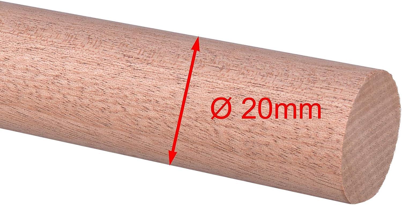 25mm /Ø 20mm 20mm 30mm Rundstab Rundholz Sapeli Mahagoni Treppensprosse Durchmesser 15mm