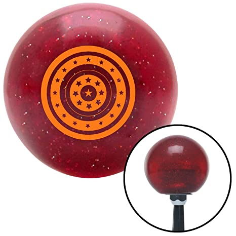 American Shifter 197156 Red Retro Metal Flake Shift Knob with M16 x 1.5 Insert Pink Stop Sign