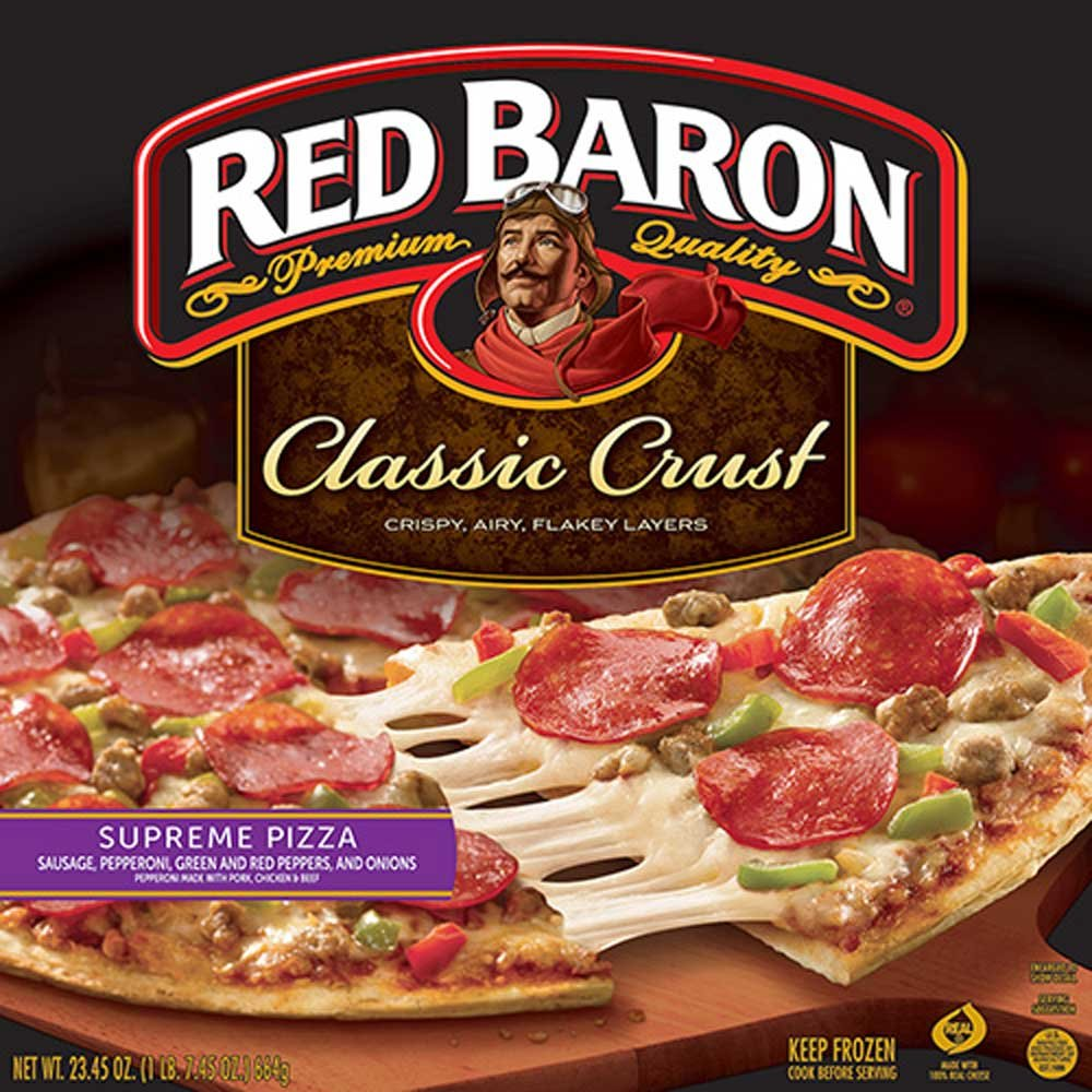 Red Baron Supreme Classic Crust Pizza, 23.45 Ounce -- 16 per case. by Schwan's