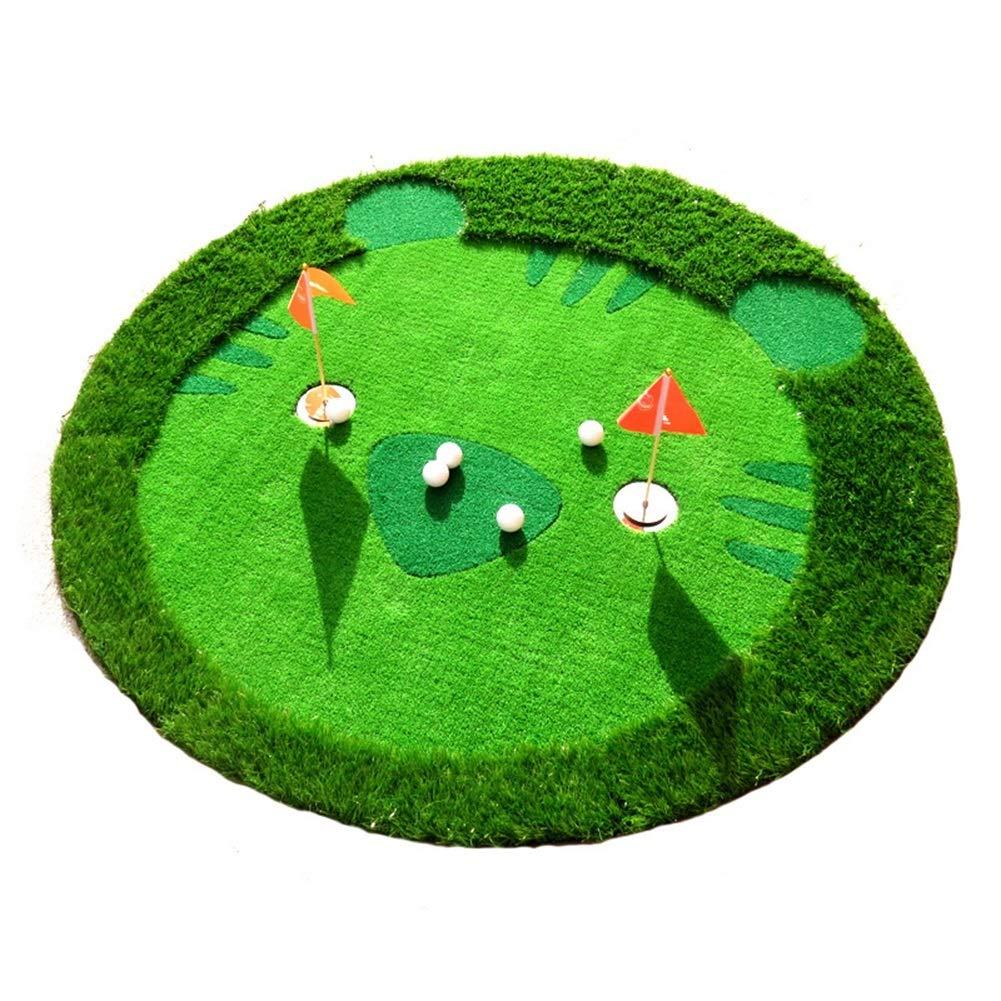 ADDS模擬グリーンパッティング練習、子供練習練習ミニ屋内練習ボールカーペット(1.5 * 1.5m) B07HD74SY6